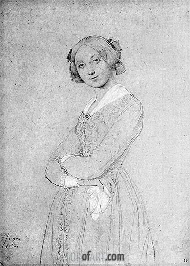 Ingres | Portrait of Louise d'Haussonville, 1842