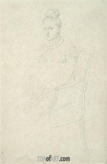 Portrait of Princess Letizia Murat, c.1813 | Ingres | Painting Reproduction
