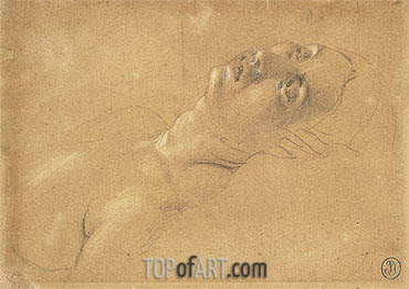 Ingres | Study of the Head of Octavia in 'Virgil Reading the Aeneid to Augustus', c.1812