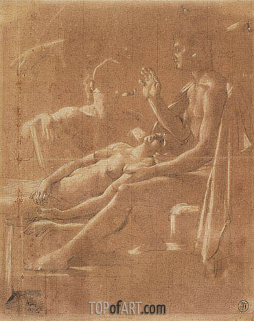 Ingres | Study for 'Virgil Reading the Aeneid to Augustus', c.1812