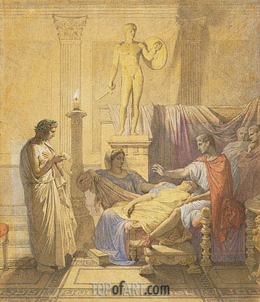 Virgil Reading the Aeneid to Augustus, 1850 | Ingres | Gemälde Reproduktion
