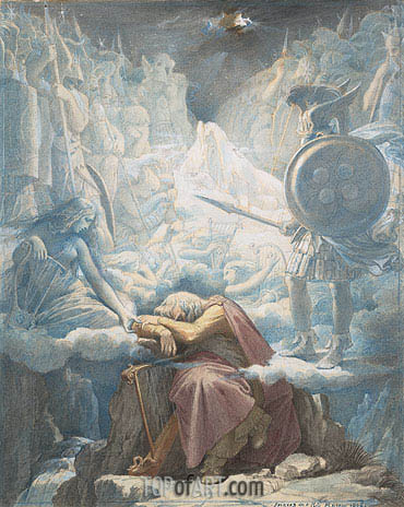 The Dream of Ossian, c.1832/34 | Ingres | Painting Reproduction