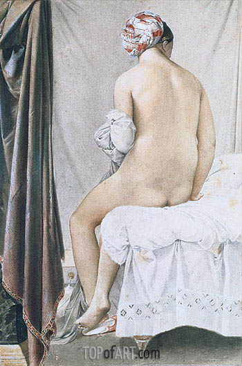 The Bather, 1808 | Ingres | Gemälde Reproduktion