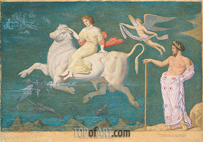 Rape of Europa, 1865 | Ingres| Painting Reproduction