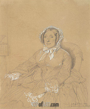 Ingres | Portrait of Mme. Ramel, 1852