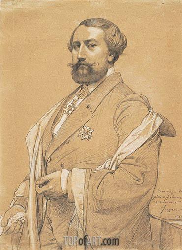 Ingres | Portrait of Alfred-Emilien O'Hara, Comte de Nieuwerkerke, 1856