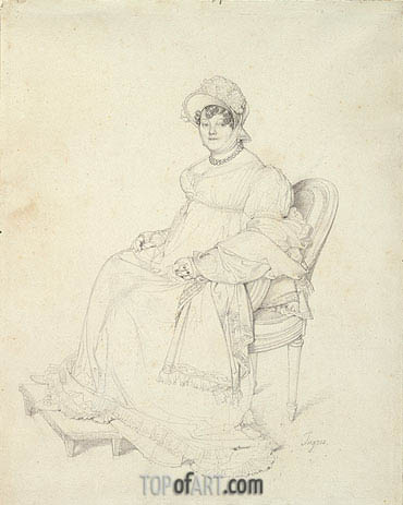 Ingres | Portrait of Madame Guillaume Guillon Lethiere, c.1808