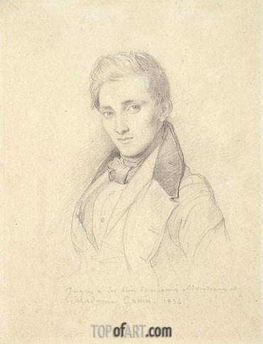 Ingres | Portrait of Etienne Gonin, 1834