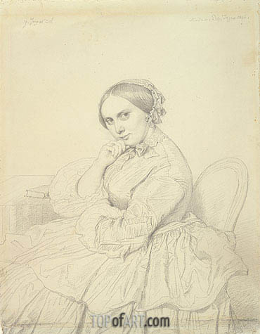 Portrait of Mme Delphine Ingres, 1855 | Ingres| Painting Reproduction