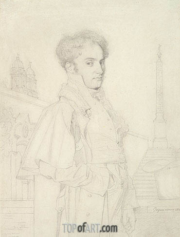 Ingres | Portrait of Count Adolphe de Colombet de Landos, 1812
