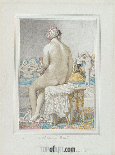 Turkish Bath, 1864 | Ingres| Painting Reproduction