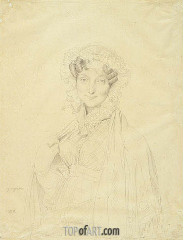 Ingres | Portrait of Mme. Balze, 1828