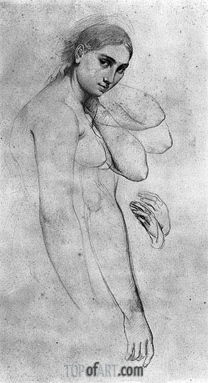 Ingres | Study for 'Raphael and the Fornarina', undated