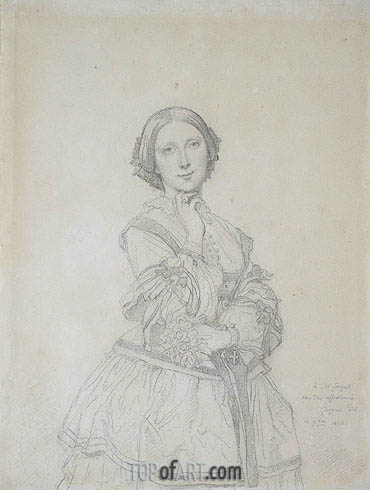 Ingres | Mlle. Cecile-Marie Panckoucke, later Mme. Jacques-Raoul Tournouer, 1856