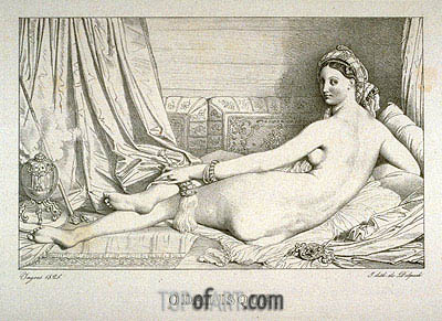 Odalisque, 1825 | Ingres| Painting Reproduction
