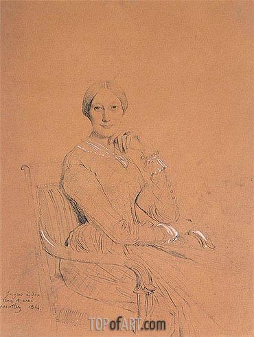 Ingres | Portrait of Madame Victor Mottez (Julie-Colette Odevaere), 1844