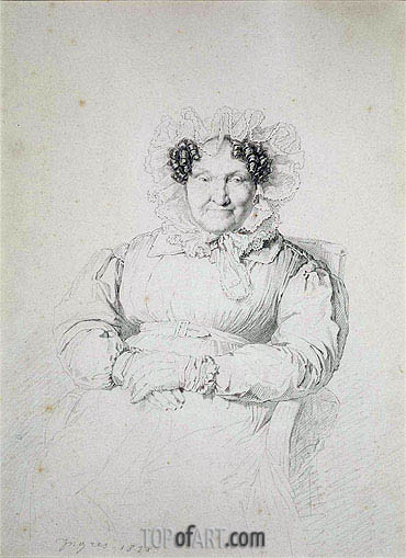 Portait of a Lady, 1828 | Ingres| Painting Reproduction