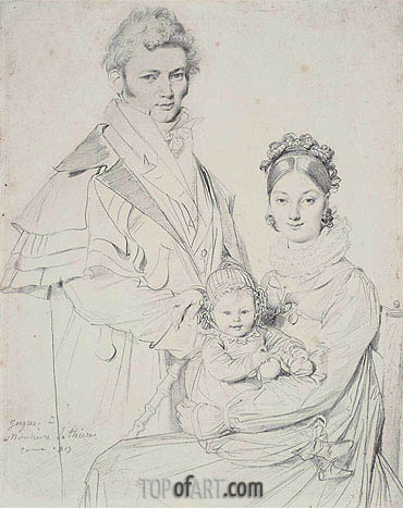 The Alexandre Lethiere Family, 1815 | Ingres | Painting Reproduction