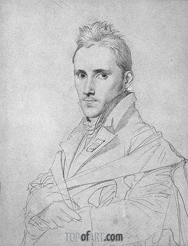 The Painter Louis-Nicolas Lemasle, a.1812 | Ingres | Painting Reproduction