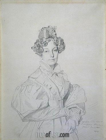 Ingres | Madame Desire Raoul-Rochette, born Antoinette-Claude Houdon, 1830