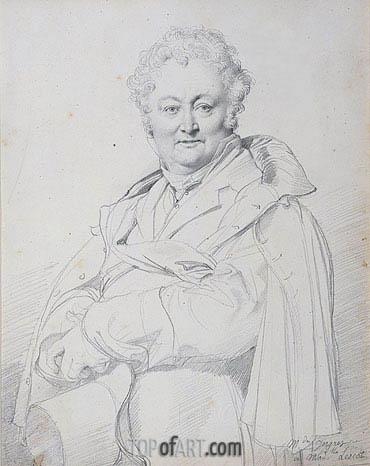 Ingres | Portrait of Guillaume Guillon Lethiere, undated