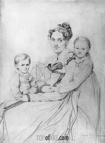 Ingres | Frau Reinhold and Her Daughters, 1815