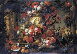 Still Life of Flowers in a Sculpted Vase | Jean Baptiste Bosschaert | outdated