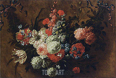 A Garland with Flowers, undated | Jean Baptiste Bosschaert| Painting Reproduction