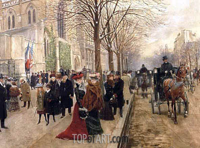 La Parisiene Oil Painting By M Church