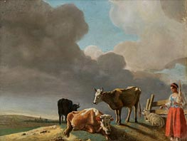 Landscape with Cows | Jean Etienne Liotard | outdated