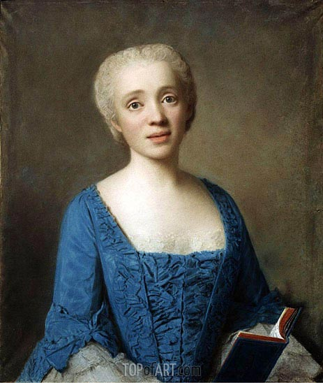 Portrait of Marie-Rose de Larlan de Kercadio de Rochefort Marquise des Netumieres, 1750 | Jean Etienne Liotard | Painting Reproduction