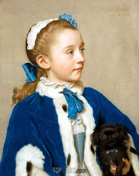 Portrait of Maria Frederike van Reede-Athlone at Seven, 1755/56 | Jean Etienne Liotard | Painting Reproduction