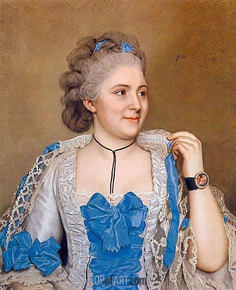 Portrait of Julie de Thellusson-Ployard, 1760 | Jean Etienne Liotard | Painting Reproduction