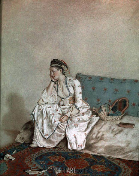 Portrait of Mary Gunning Countess of Coventry, 1749 | Jean Etienne Liotard | Gemälde Reproduktion