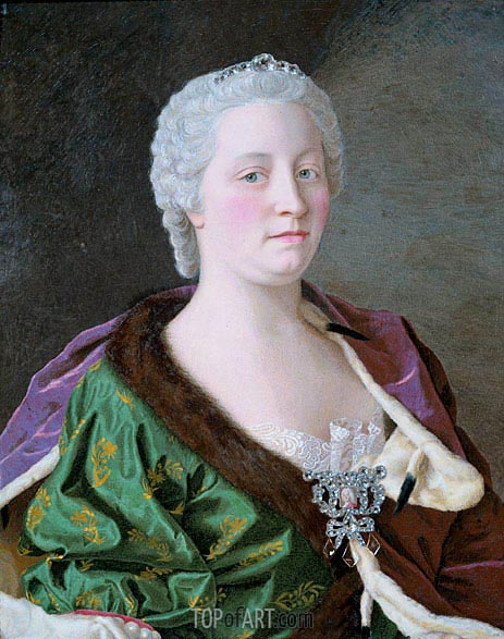 Portrait of Maria Theresia, 1747 | Jean Etienne Liotard | Gemälde Reproduktion