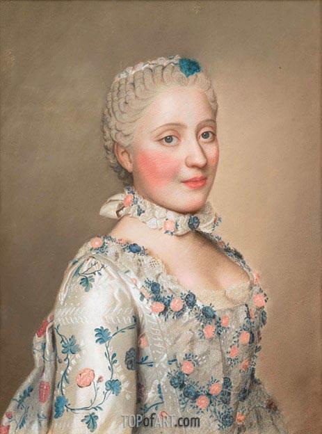 Jean Etienne Liotard | Portrait of Marie Josephe van Saksen dauphine van Frankrijk, c.1749/50