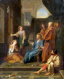 Christ in the House of Martha and Mary | Jean-Baptiste Jouvenet | Painting Reproduction