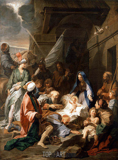 Adoration of the Magi, 1710 | Jean-Baptiste Jouvenet | Painting Reproduction