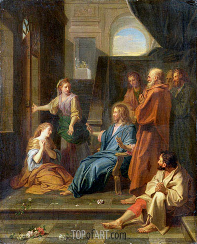 Christ in the House of Martha and Mary,  | Jean-Baptiste Jouvenet | Painting Reproduction