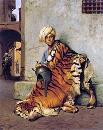Pelt Merchant of Cairo, 1880 by Gerome | Painting Reproduction