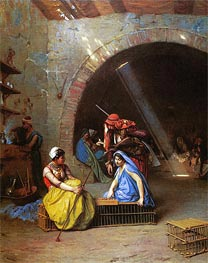 Almehs Playing Chess in a Cafe | Gerome | Painting Reproduction