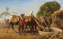 Camels at the Watering-Place | Gerome | Painting Reproduction