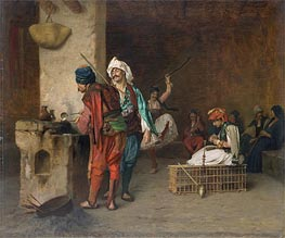 Cafe House, Cairo (Casting Bullets), c.1870 by Gerome | Painting Reproduction