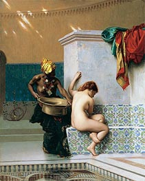 Moorish Bath, Two Women (Turkish Bath), 1870 by Gerome | Painting Reproduction