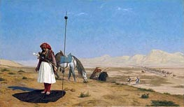 Prayer in the Desert, 1864 by Gerome | Painting Reproduction