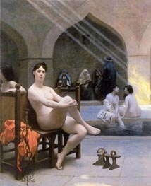 The Women's Bath, 1889 by Gerome | Painting Reproduction