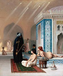 Pool in a Harem, c.1876 by Gerome | Painting Reproduction