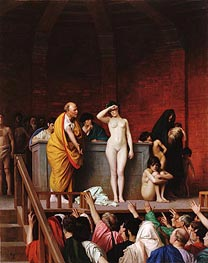 Slave Market in Ancient Rome, c.1884 by Gerome | Painting Reproduction