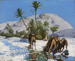 Oasis, 1857 by Gerome | Painting Reproduction