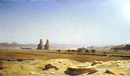 The Plain of Thebes in Upper Egypt, 1857 by Gerome | Painting Reproduction